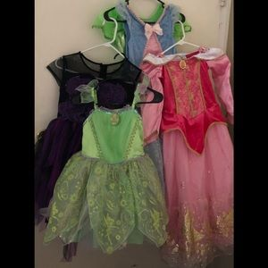 Girls Disney costume lot of 5 in  size 7/8